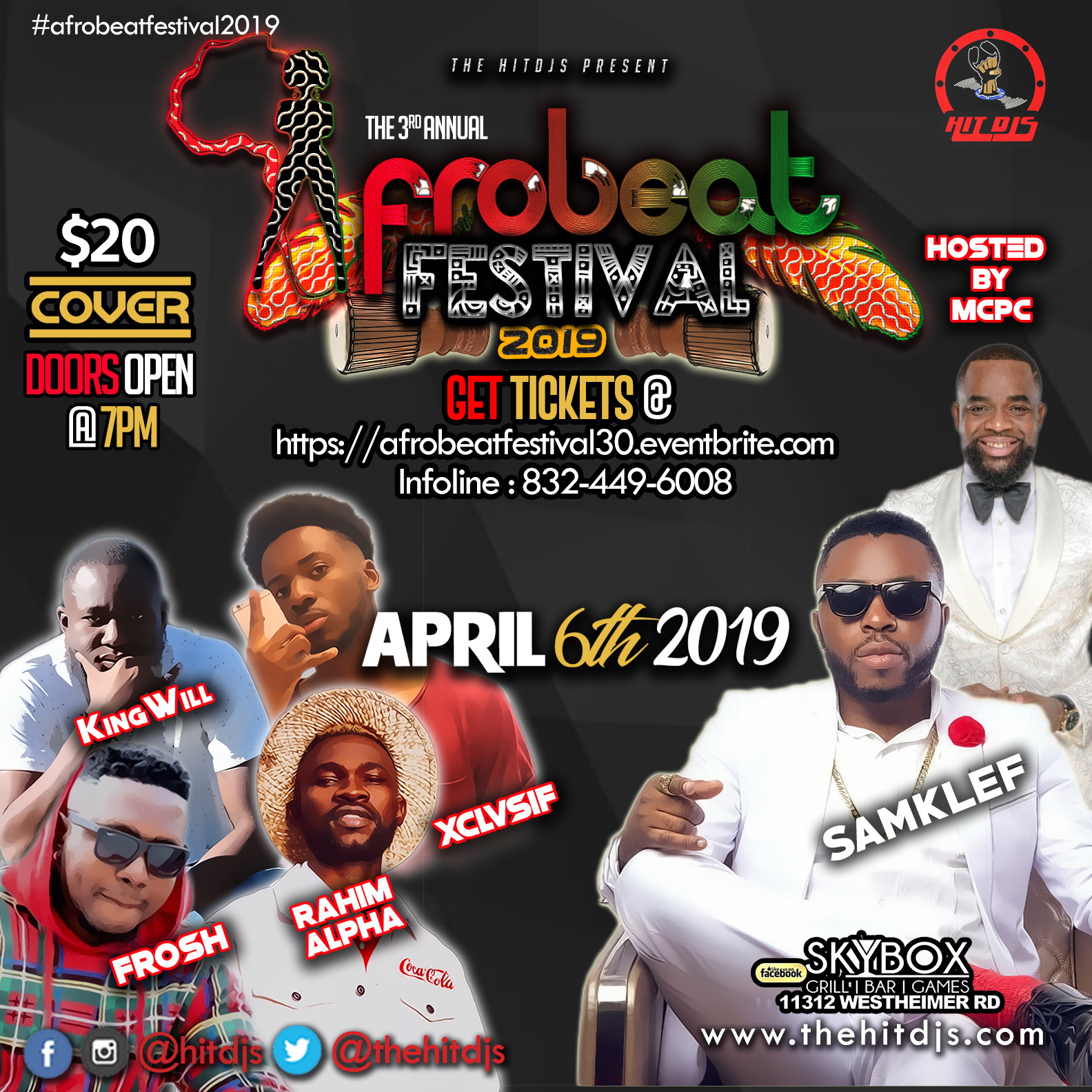 AFROBEAT FESTIVAL 3 0 - APRIL 6TH 2019 – HitDjs